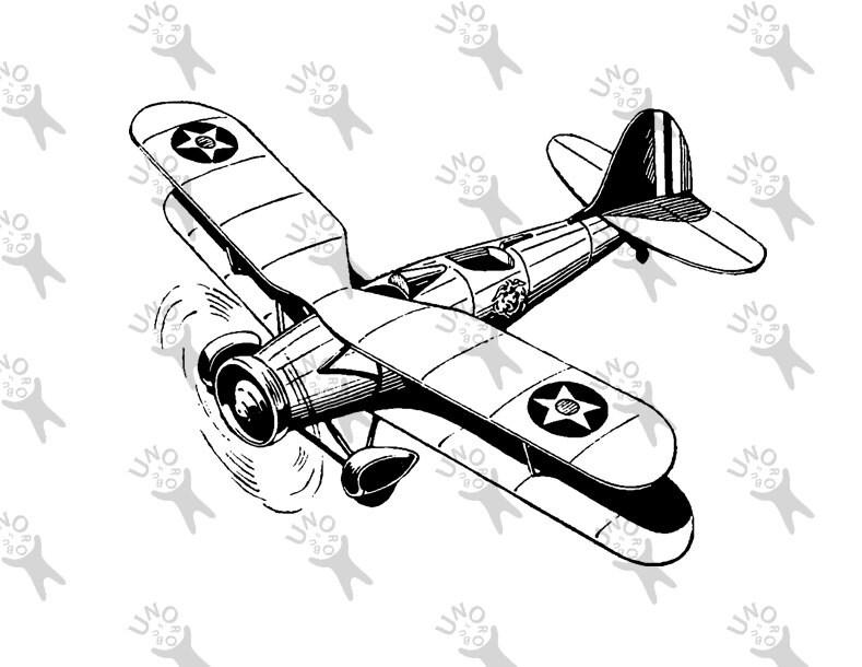 Retro Para Imprimir Aviones Aviación Digital Avión Dibujo