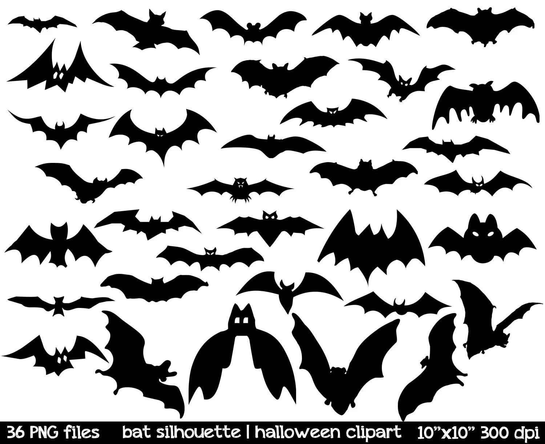 Bat Silhouette Clipart Bat Clipart Black Bat Clipart