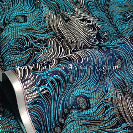 Peacock Fabric Feather Upholstery