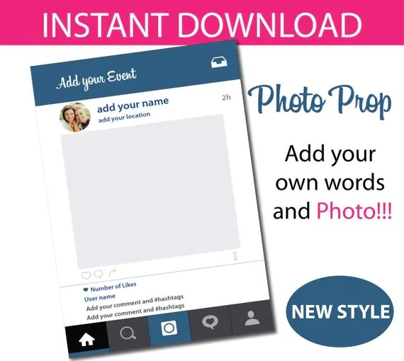 Free Instagram Frame Party Template   Framess.co