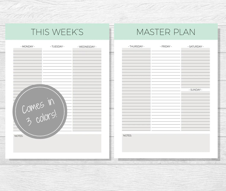 Weekly Planner Printable Planner Printable