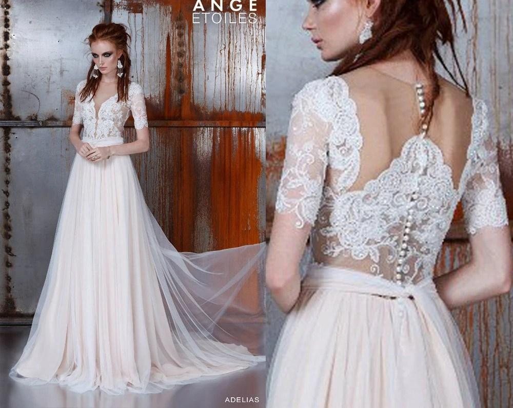 Wedding Dress ADELIAS Bohemian Wedding Dress Long Sleeve