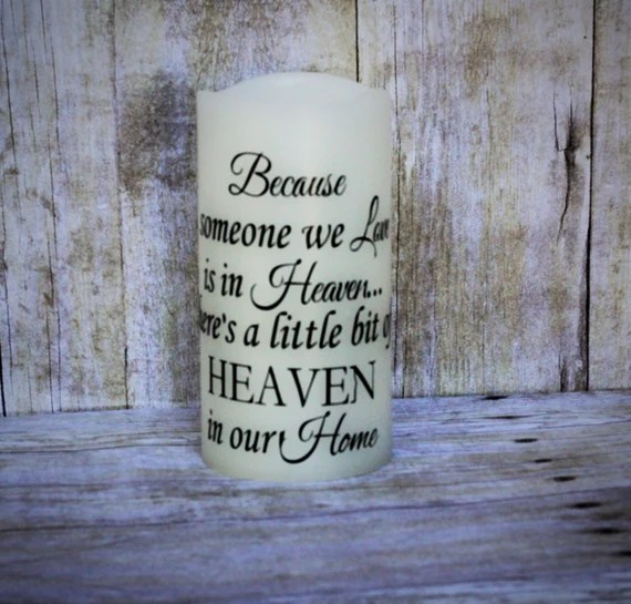 Download Memorial Candle-Because someone we love is in Heaven
