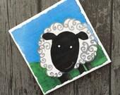 Cute Sheep Coaster, Colou...