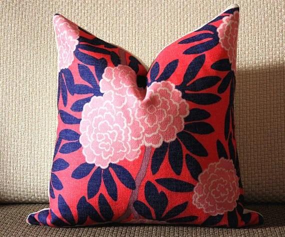 4 Colors Designer Pillow Aqua And Navy Pillow Cover Floral