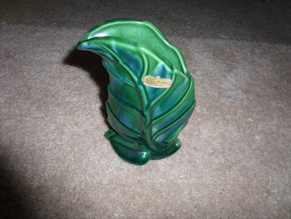 Royal Haeger Pottery Green Leaf