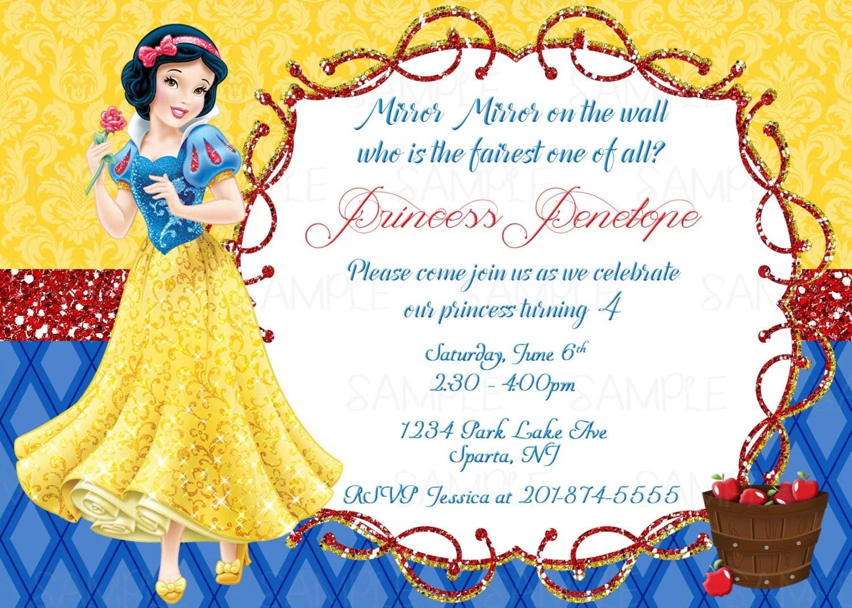 Snow White Printable Birthday Party Invitation Plus Free Blank