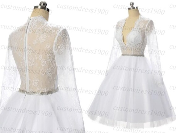 Short Wedding Dress Handmade Lace Bridal Gowns By