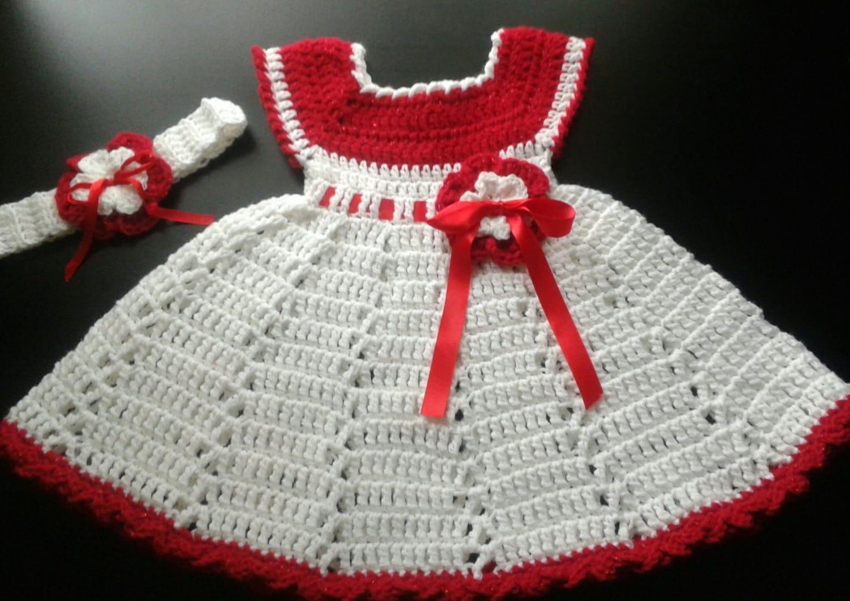 Baby Christmas Dress Crochet Baby Girl By ShellyBellsCrochet