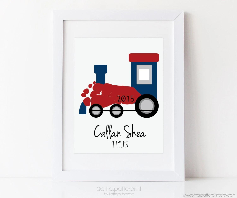 Train Nursery Art Print Transportation Nursery Wall Art Baby