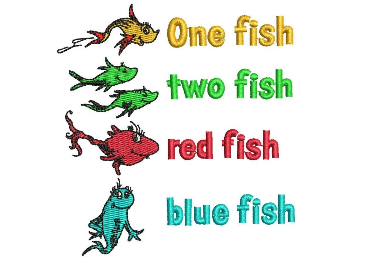 Dr Seuss One Fish Two Fish Red Fish Blue By