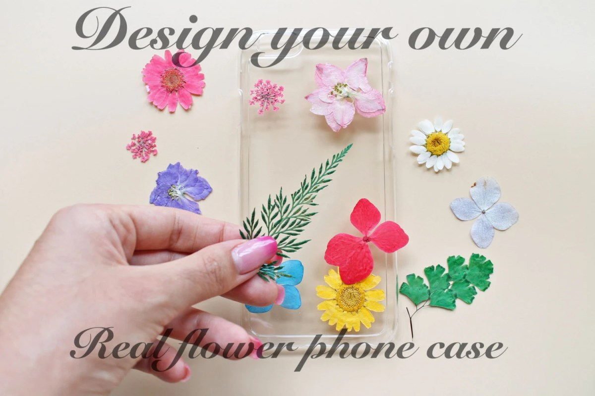CUSTOM ORDER Pressed flower phone cases Clear resin phone cases Real flower phone cases, floral iPhone cases Samsung Galaxy iPhone 6