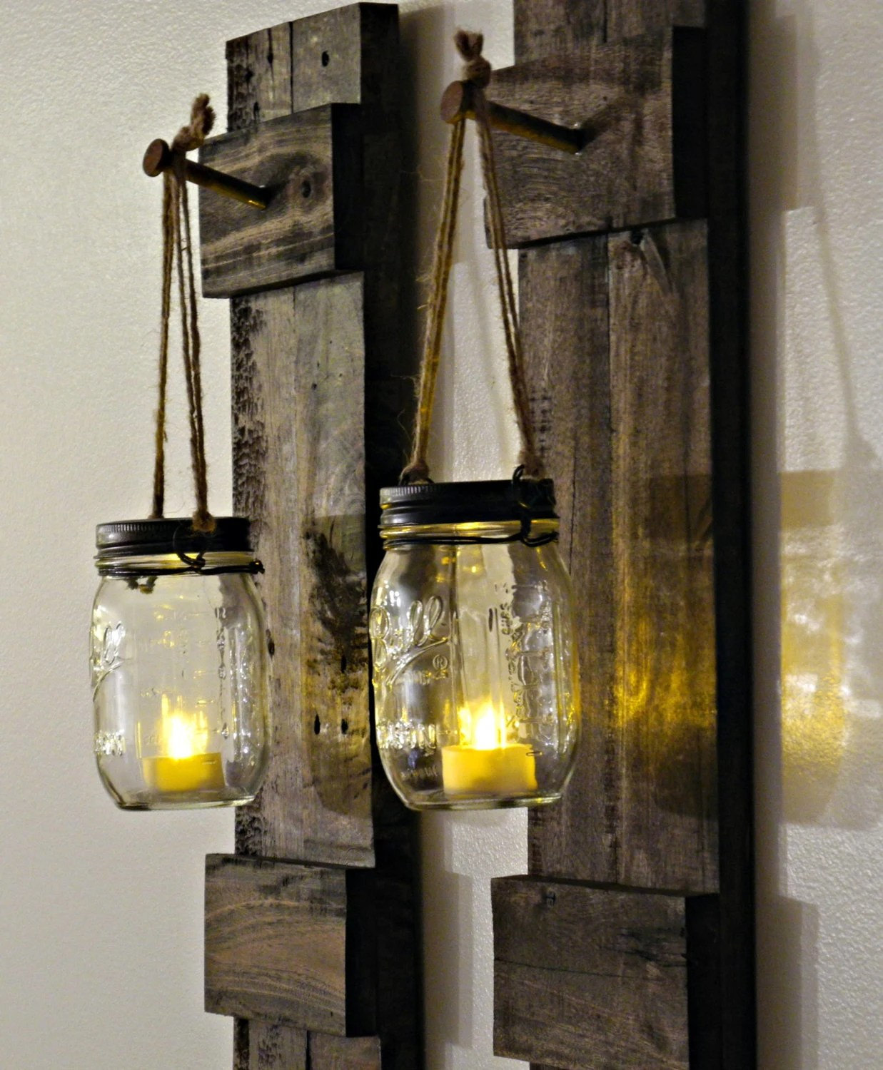Rustic Wall Decor Reclaimed Wood Hanging by DreamHomeWoodshop on Wood Wall Sconces id=50874