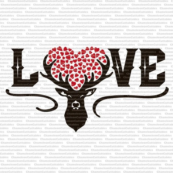 Download Deer Love svg cut file decal vector silhouette cameo