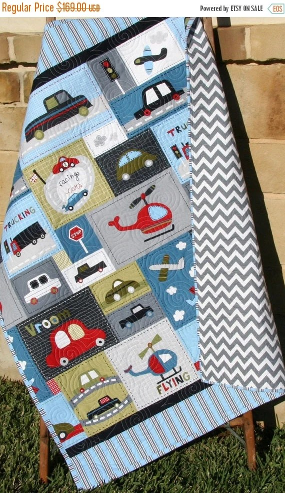 Car Quilt Baby Boy Toddler Bedding Vehicles By
