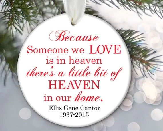 Download Memorial Ornament Because someone we love is in Heaven