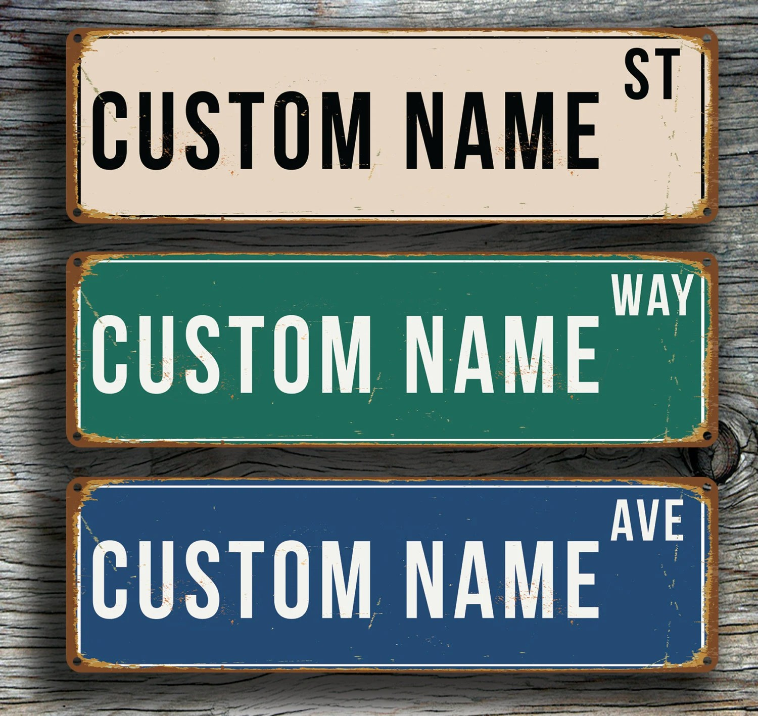 Custom Street Sign Personalized Street Sign Vintage Style