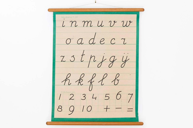 Vintage Alphabet Chart Letter Pull Down Chart Handwriting