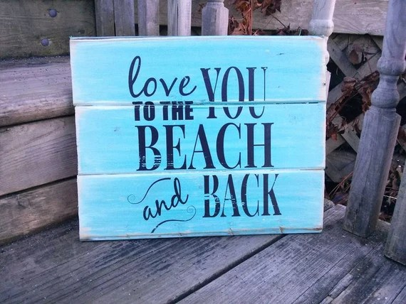 Download Items similar to Love you to the Beach and Back wood sign ...