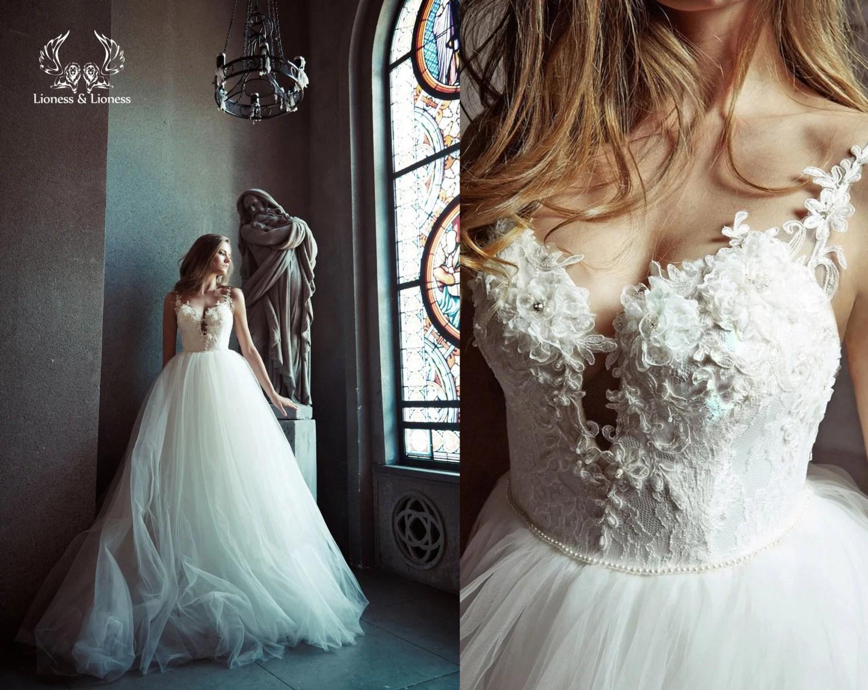 Ball Gown Wedding Dress. Tulle Wedding Dress. Wedding Dress