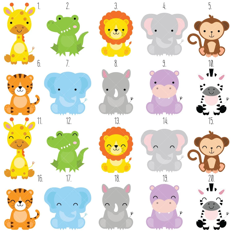 Safari Baby Animals Clipart Jungle Animals Clipart Zoo Animals Clipart From Clipartisan On
