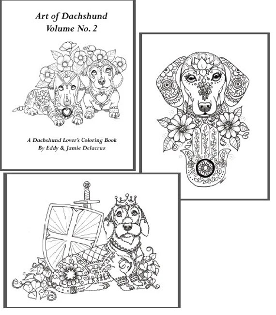 art of dachshund coloring book volume no.2 downloadable
