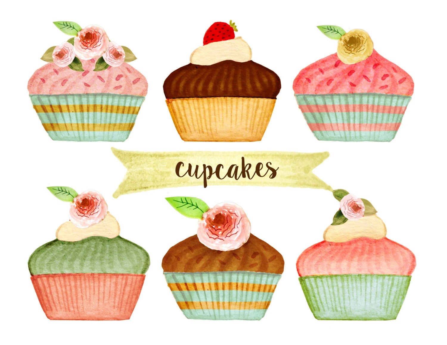 Cupcakes And Cakes Clip Art