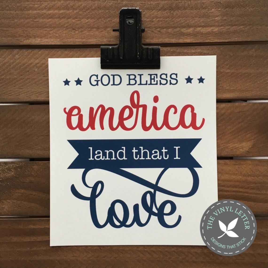 Download DIGITAL God Bless America Land That I Love SVG and STUDIO