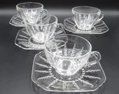 Four Federal Glass Columb...