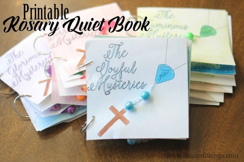 Printable Rosary Quiet Book