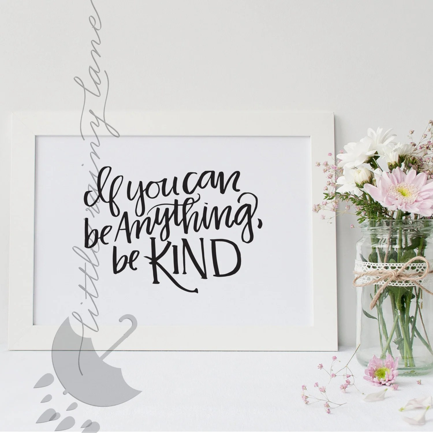 If You Can Be Anything Be Kind Wall Art Nursery Decor