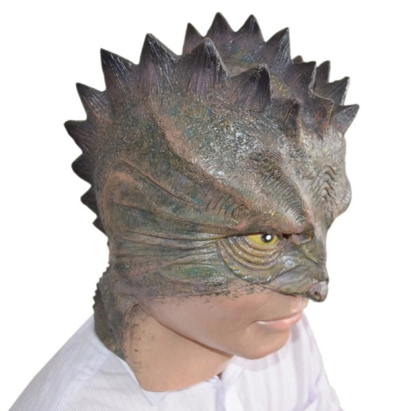 Lizard man full face silicon mask, Adult. from ...