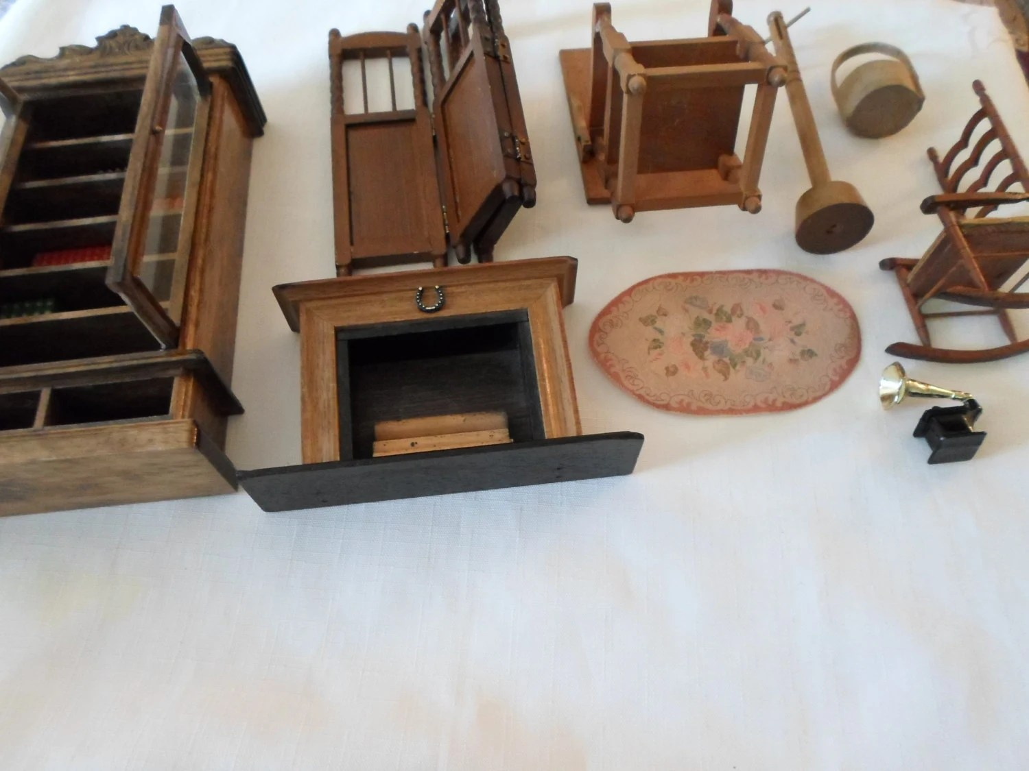 Very Impressive portraiture of WOOD FURNITURE / Lot / Miniatures / Collectibles / Diorama / Doll  with #68442D color and 1500x1125 pixels