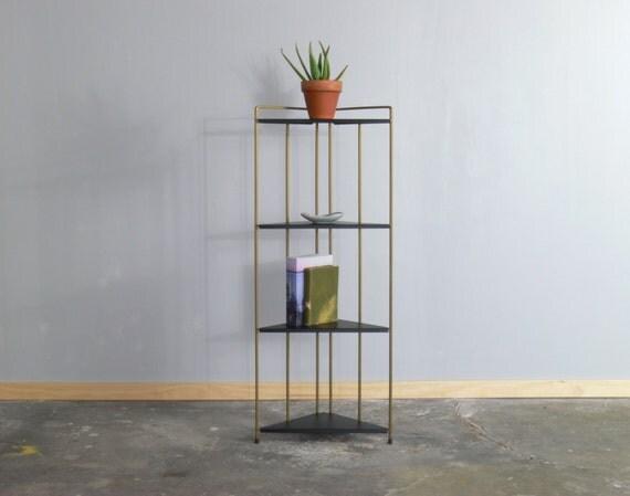 Mid Century Modern Wire Corner Folding Shelf // Display