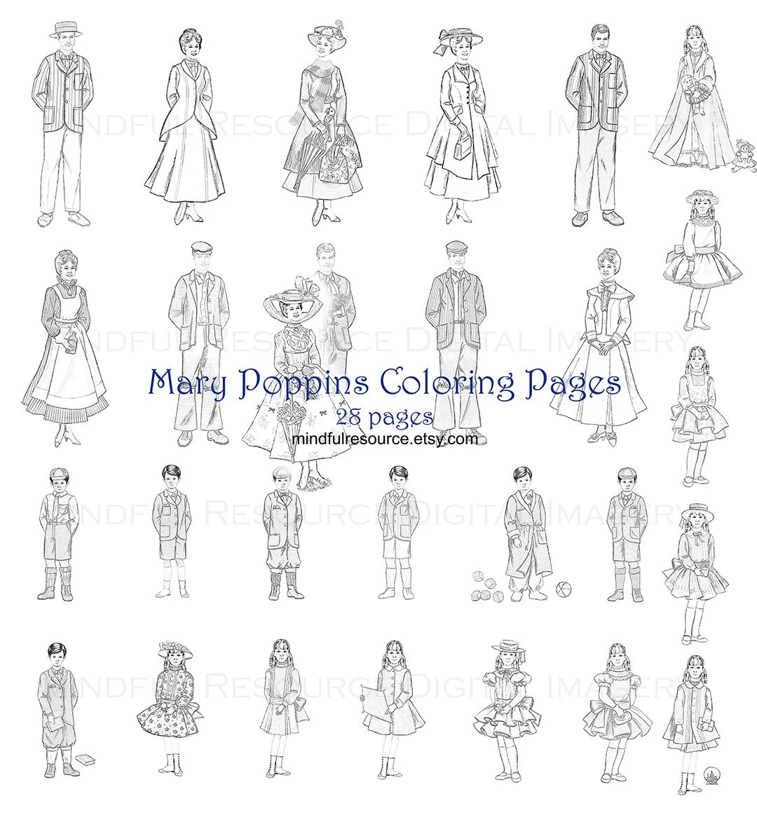 Mary Poppins Coloring Pages 28 Printable By Mindfulresource