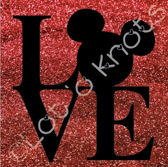 Download Love Mickey Mouse svg dxf jpg & pdf files by LotOKnots on Etsy