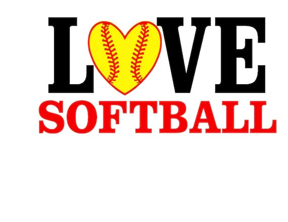 Download Love Softball SVG or Silhouette Instant Download