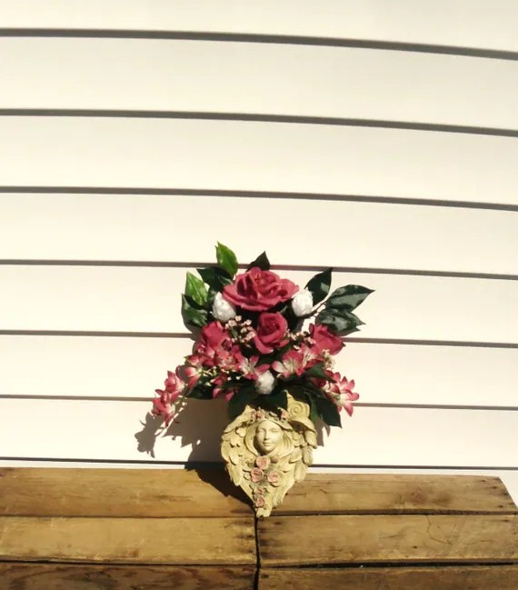 Wall Sconce Arrangement Angel wall Sconce Container Floral on Wall Sconce Floral Arrangements Arrangement id=54540