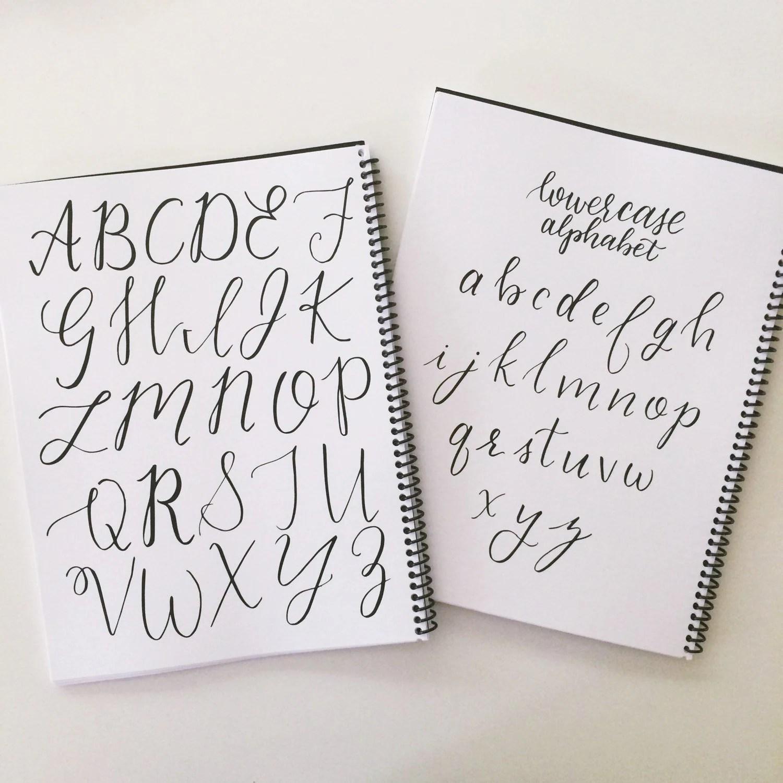 Printable Alphabet Practice Sheets Beginner Brush Lettering