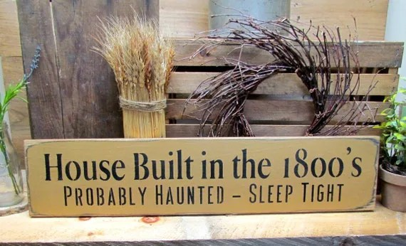 Funny Wooden Halloween Sign