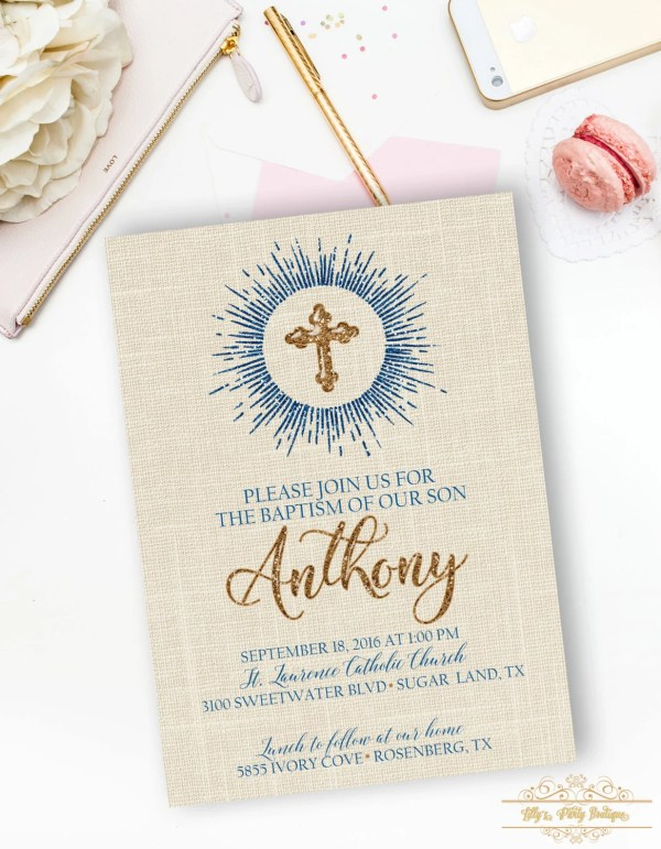 Baptism Girl Invitation Virgin Mary Baptism Invite Saint