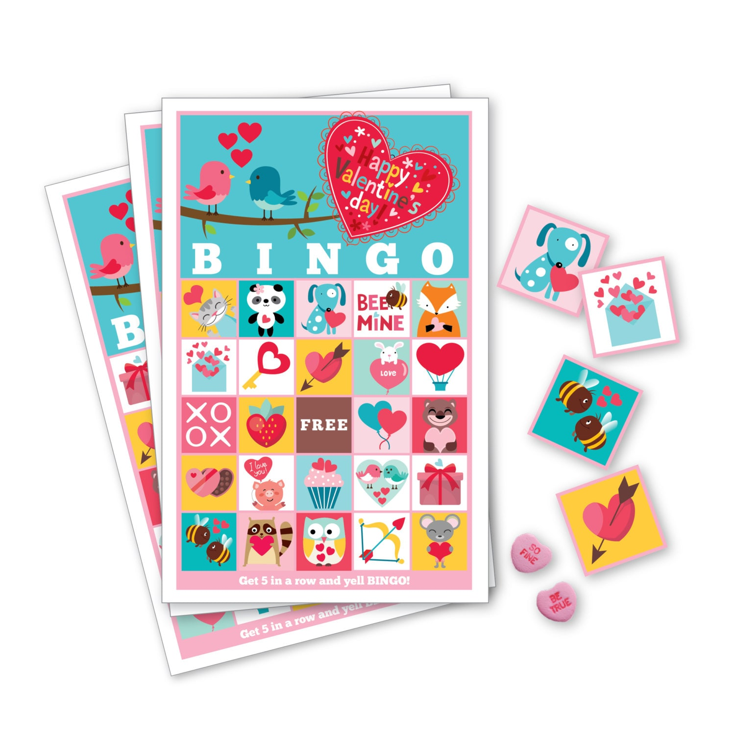 Valentine Bingo Game Kid S Printable Bingo Game Bingo
