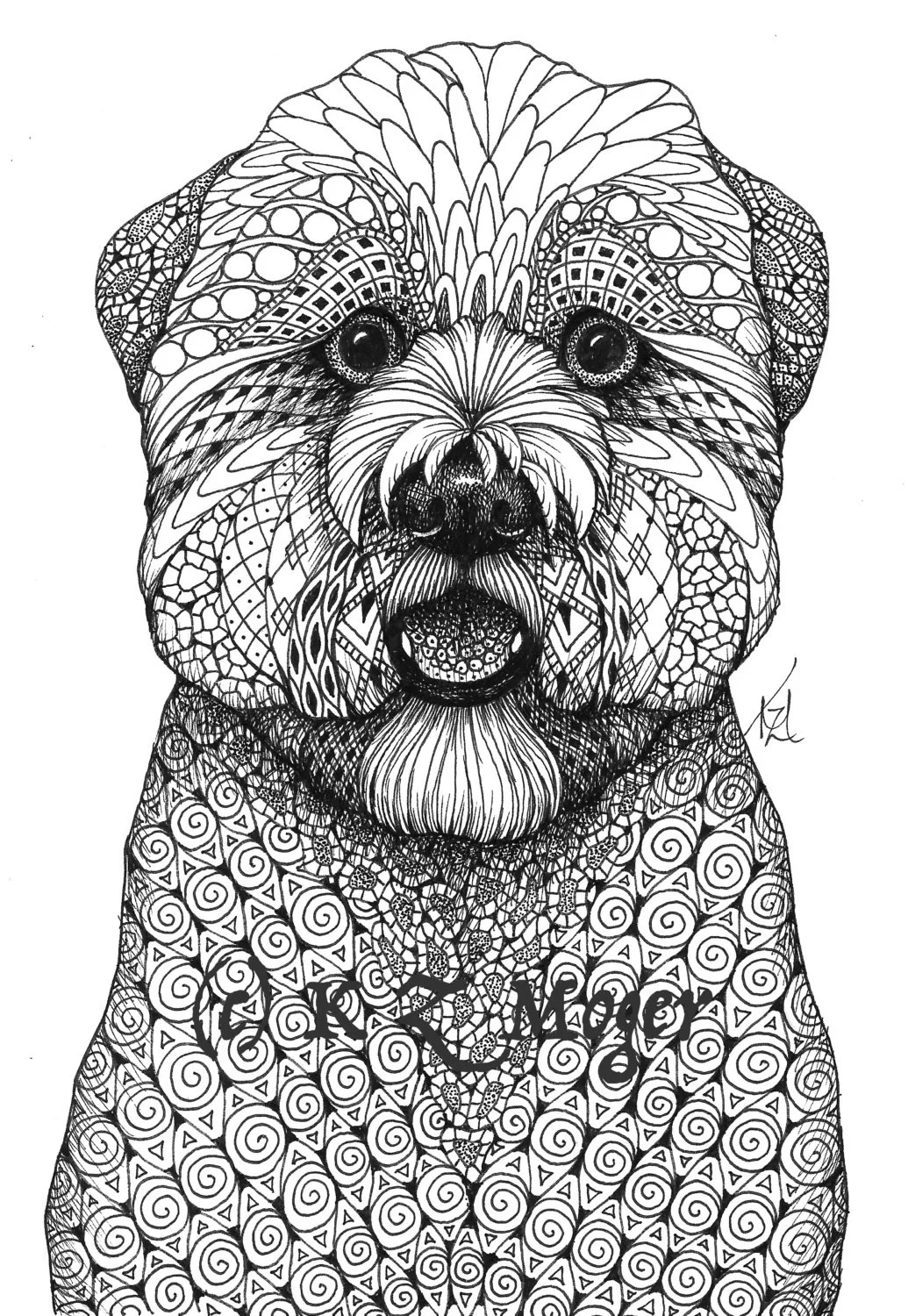 Large Breed Dog Portraits More Large Breeds Matted Print