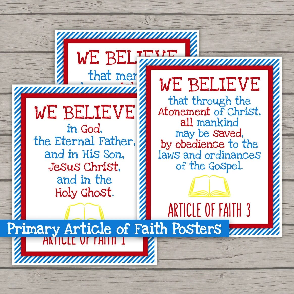 Articles Of Faith Poster Lds Primary Theme By