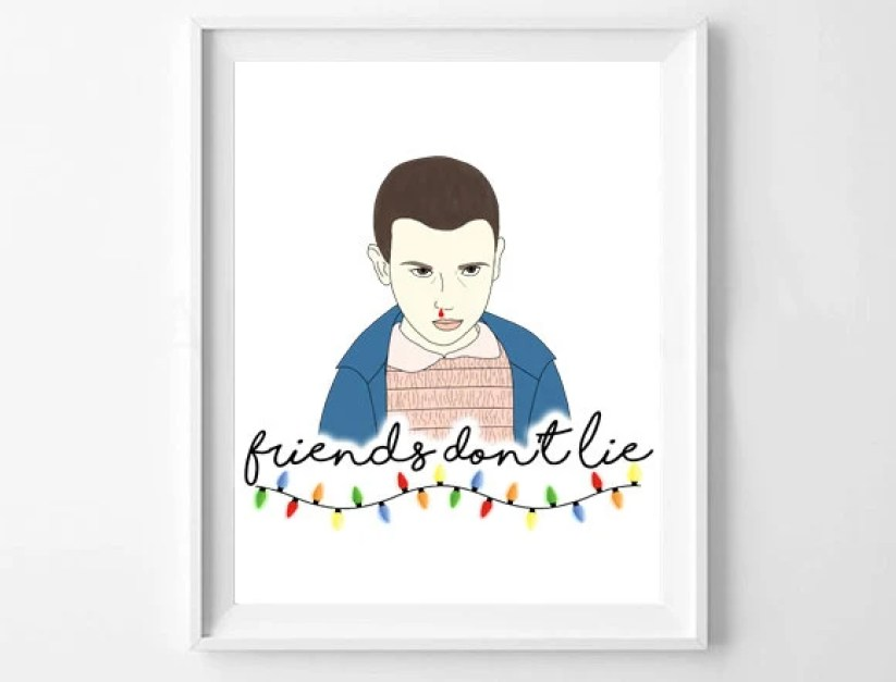 Stranger Things 'Friends Don't Lie' A5 Print