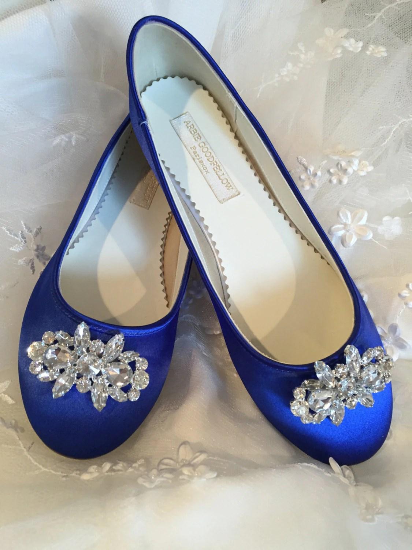 Blue Flat Wedding Shoes