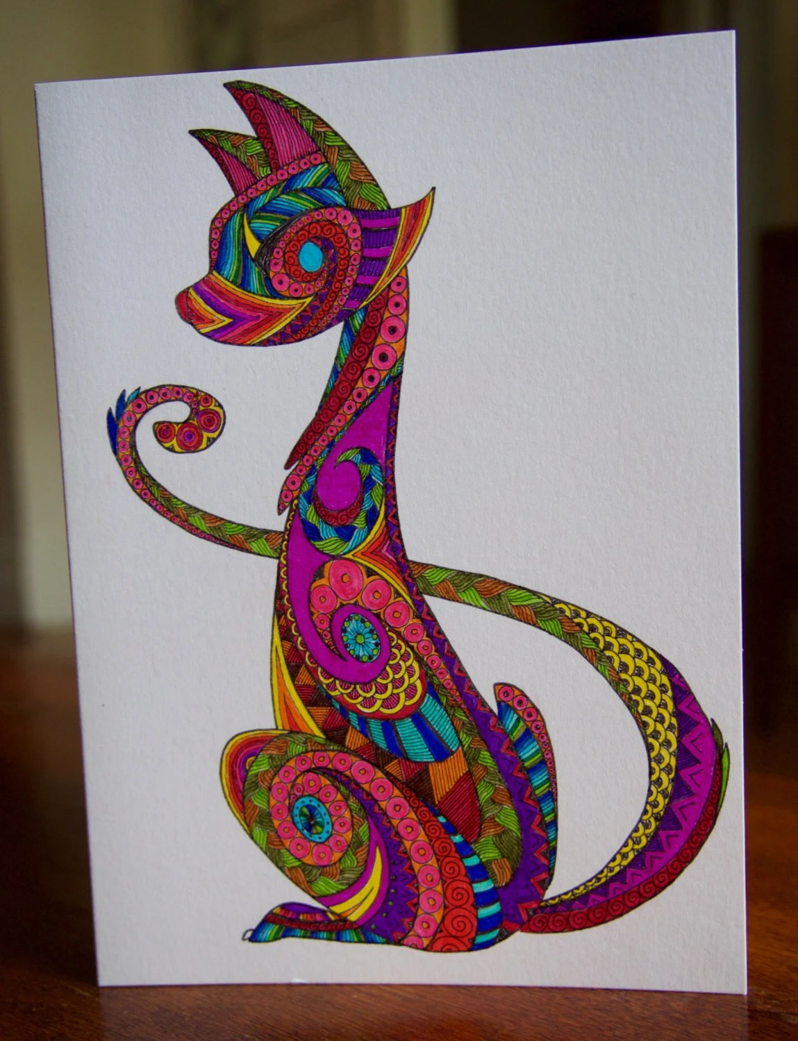 Popular Items For Zentangle Card On Etsy