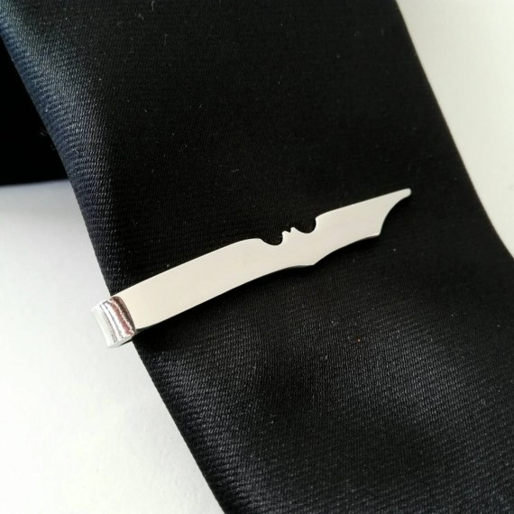 Batman tie clip made with stainless steel for skinny ties