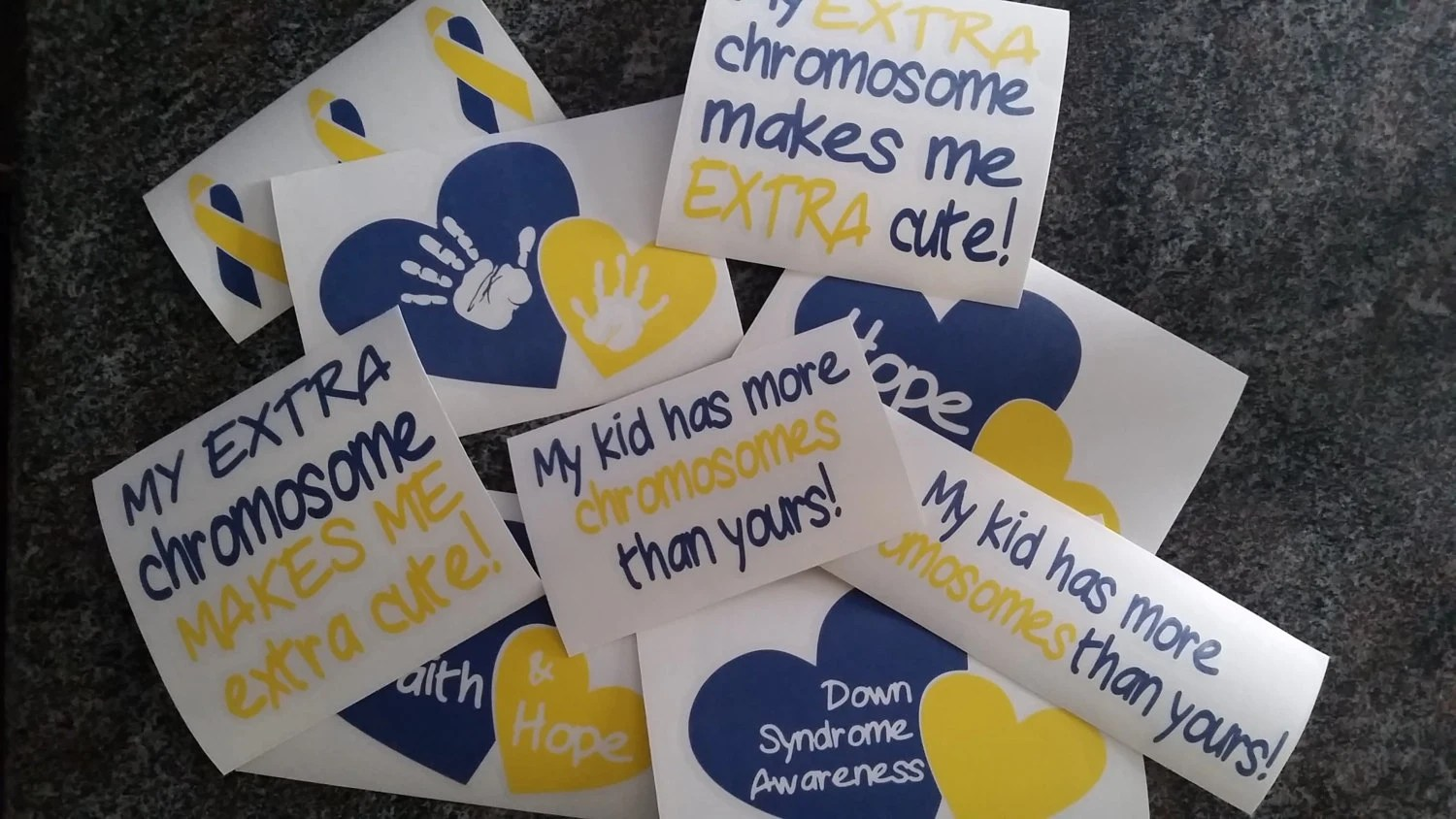 Down Syndrome Awareness Chromosome Decals With Free Us