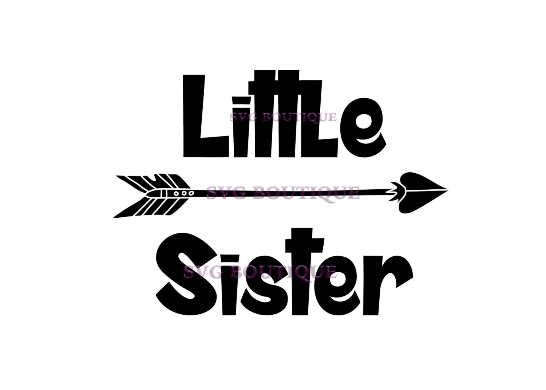 Little Sister Svg Big Sister Svg Arrow Vector Cutting